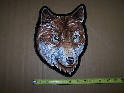 Large Wolf Biker Patch