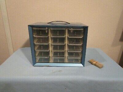 Vintage Akro-mils 15 Drawer Metal Storage Cabinet