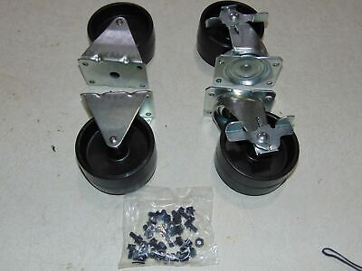 4 Craftsman Tool Box Caster Wheels - 2 Swivel Brake Lock - 2 Straight Casters