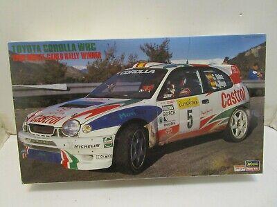 HASEGAWA TOYOTA COROLLA WRC 1998 MONTE CARLO RALLY WINNER 1/24 SCALE MODEL KIT