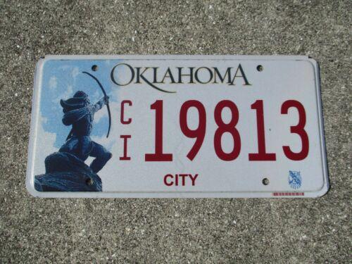 Oklahoma  City license plate #  19813