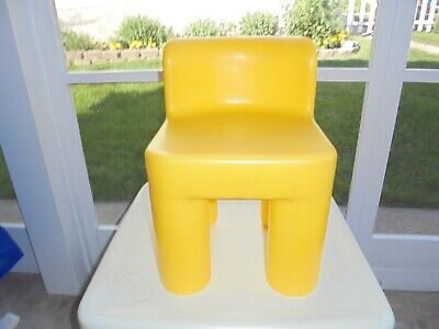 Vintage Little Tikes YELLOW Chunky Chair  CHILD Size