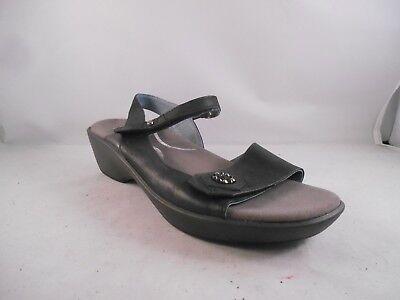 Naot Reserve Black Leather Sandals w/ Removable Footbed Women's Sz 11 US / 42 EU ()