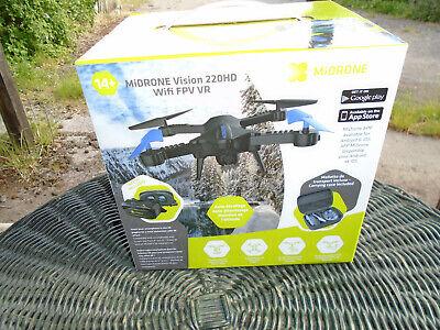 midrone vision 220hd fpv wi-fi smart drone plus VR goggles and case boxed new
