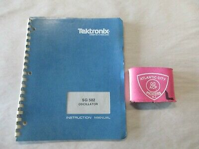 Tektronix Sg 502 Oscillator Service Instruction Manual 070-1430-01