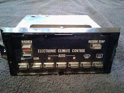 1982-1985 CADILLAC ELDORADO/SEVILLE DIGITAL CLIMATE CONTROL A/C-HEATER UNIT. Cadillac Eldorado A/c