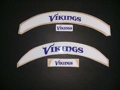 Viking Helmet Football (Vikings Football Helmet Front+Rear Bumper Decals (Speed or)