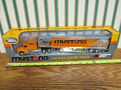 Mustang Skid Loaders International Semi With Van Trailer By DCP 1/64th Scale