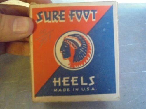 Vintage Box of Sure Foot Heels Men