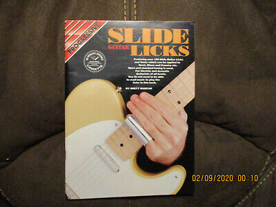 Slide Guitar Licks Instructional Book With Guitar Tab by Brett Duncan Slide Guitar Book