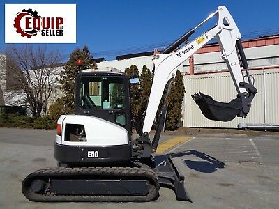 2015 Bobcat E50 Mini Excavator - Enclosed Cab - Rubber Tracks