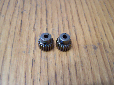 2-Traxxas 19 Tooth Steel Pinion Gears w grub screw 19t 48p 2wd Stampede - 19t Steel Pinion Gear