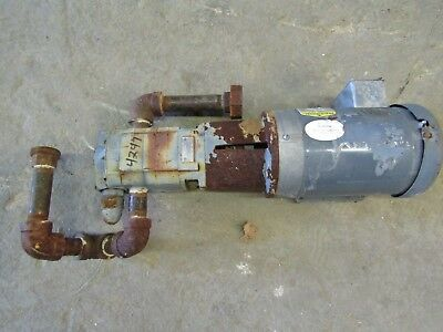 Viking Pump Sg-40782-gov W 1.5hp Baldor Electric Motor Used