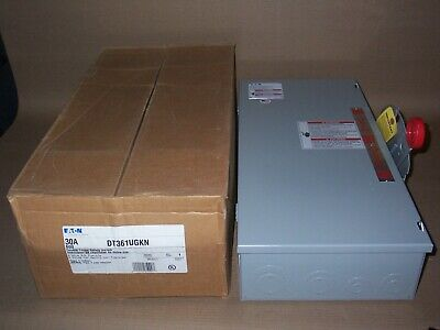 New Eaton Dt361ugkn 30 Amp 600v Non Fused 3ph Manual Transfer Switch Disconnect