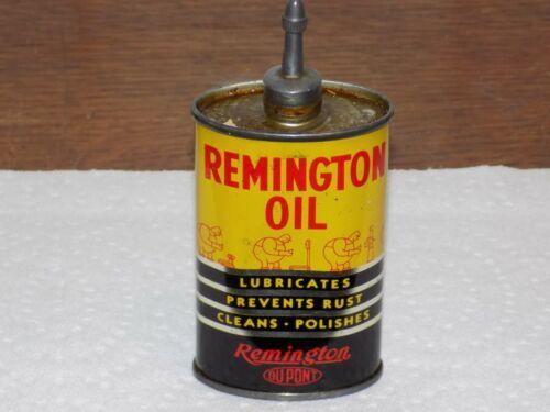 Vintage Remington Lead Top Oiler 3 Ounce Dupont Empty Can
