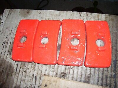 Vintage Fordson Major Diesel Tractor - 4  Rear Wheel Weight Clamps