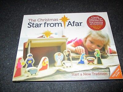 The Christmas Star From Afar - Wooden Nativity Set & Book - 16 pieces Child 3+ - Wooden Nativity Set