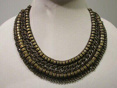 Zara Bronze Tone Metal Collar Necklace