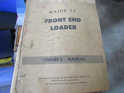 Major 25 Front End Loader Owners Manual