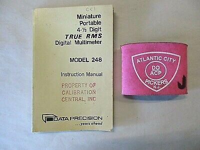Data Precision Model 248 Digital Multimeter Instruction Manual