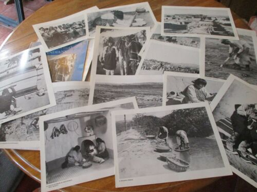 "NEW MEXICO LIFEWAYS PHOTO FOLIO ""THE PUEBLO INDIANS"", 15 RARE B&Ws, 1880-1941,VG"