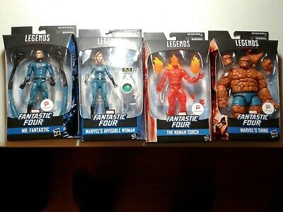 Marvel Legends Fantastic Four Walgreens Exclusive Thing Invisible Torch lot of 4