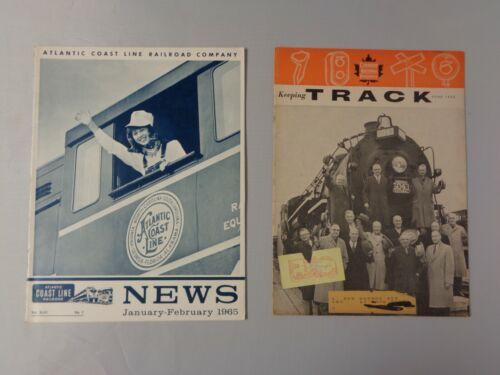 Lot of 2 vintage Railroad news 1960 Canadian Keeping Track & 1965 Atlantic Coast