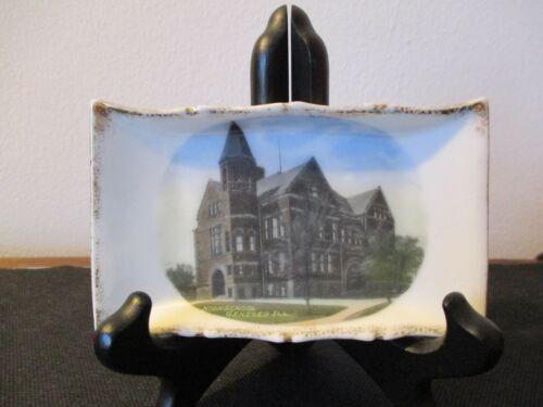 Circa 1910 Souvenir Porcelain Pin Dish High School Geneseo Illinois #