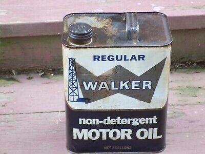 Vintage Walker Non Detergent Motor Oil Empty Can