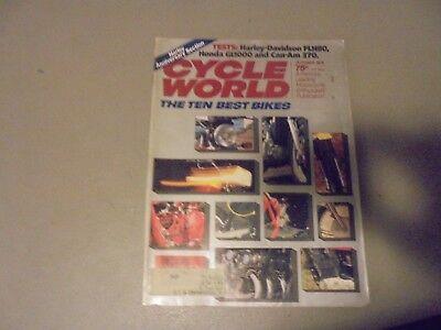 OCTOBER 1978 CYCLE WORLD MAGAZINE,10 BEST BIKES,HARLEY FLH80,CAN-AM 370,HONDA