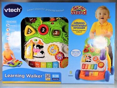 NEW~VTECH~LEARNING WALKER~SIT-TO-STAND~KIDS/CHILDRENS BABY&TODDLER EDUCATION TOY