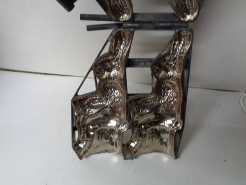 Nice Heavy Metal Double Sitting Rabbit Easter Candy Mold