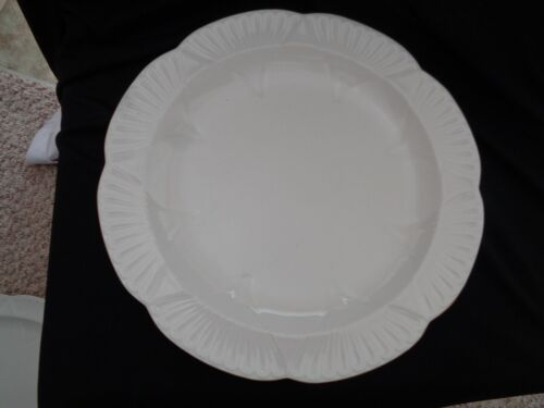 Shelley Made In England White And Gold Round Platter