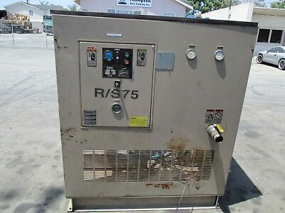 Since 1854 Curtis 75 H.p. Rotary Screw Compressor Model Rs75d 330 Cfm 125 Psi