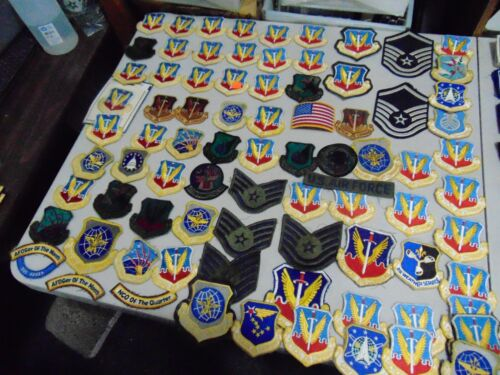 MILITARY LOT SET OF 84 VARIOUS PATCHES US AIR FORCE SOME VINTAGE LOT # 14