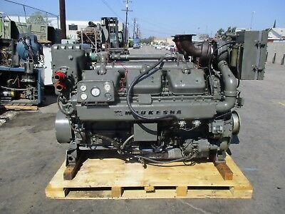 Waukesha Model L1616dsu Diesel Engine 12 Cylinder In Good Working Condition