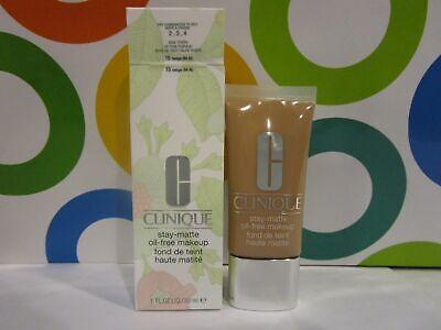Beige 1 Ounce Makeup - CLINIQUE ~ STAY MATTE OIL FREE MAKEUP ~ # 15 BEIGE ~ 1 OZ BOXED
