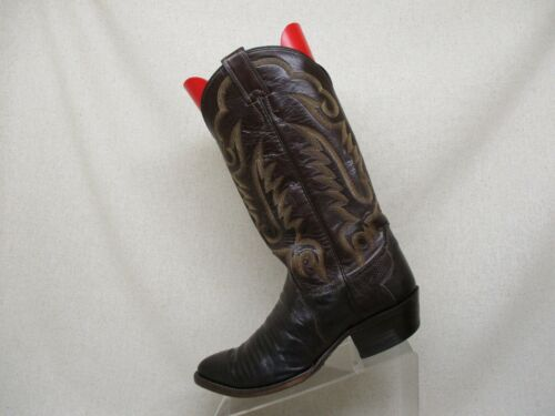 JUSTIN, Brown, Leather, Snake, Skin, Cowboy, Western, Boots, Mens, Size, 8, EEE, Style, 8306