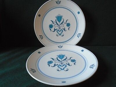 Two Noritake 'Blue Haven' salad plates Blue Haven