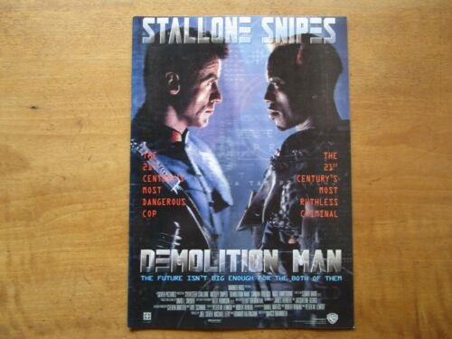 "Film ""Demolition Man"" Marco Brambilla Movie Program Japanese ver F/S"