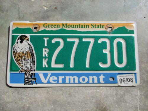 Vermont 2008 Falcon TRK license plate  #  27730