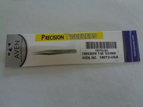 "Aven 18072-USA Technik Tweezers 7-SA, 4.75""  NEW"