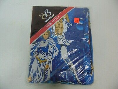 VTG Original 1977 STAR WARS Twin Fitted Sheet  Bibb Co. HTF Galaxy A New Hope