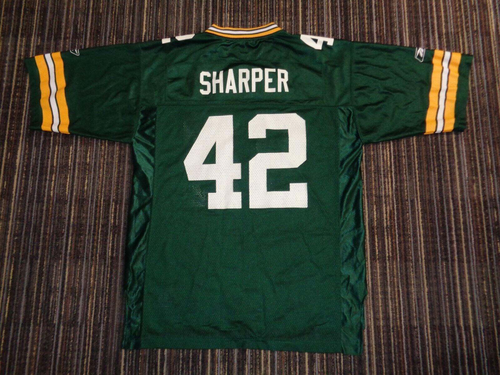DARREN SHARPER 42 GREEN BAY PACKERS REEBOK MENS GREEN NFL GAME FOOTBALL JERSEY - $29.99