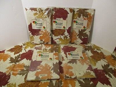 NIP Thanksgiving Autumn Fall Leaf Vinyl Flannel Backed Kitchen Party Tablecloth - Thanksgiving Parties