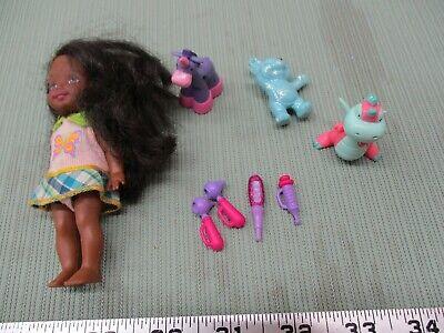 Vintage Mattel Barbie AA Girl Doll Horse Pony Part Set Purple Blue Dragon Lot