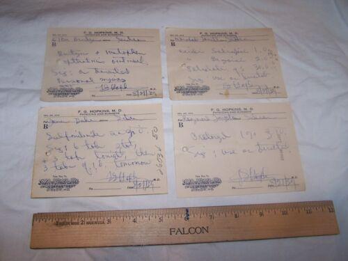 4 - 1939 F.G. HOPKINS MD Prescriptions GIDEON ANDERSON CO Missouri - Pharmacy