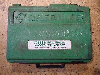 Greenlee 7238sb Slug Buster Knockout Punch Set Wcase Wrench Driver