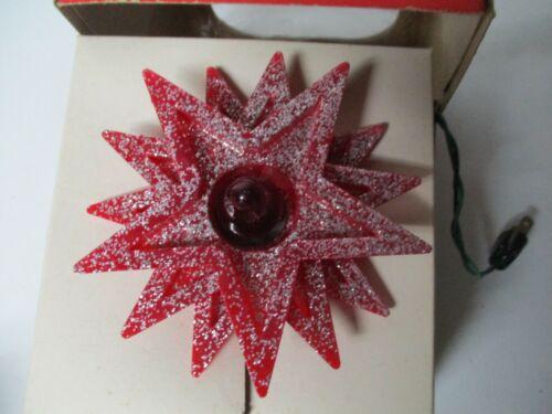 Vintage RINGALITE STAR Tree Top Christmas Light in Original Box