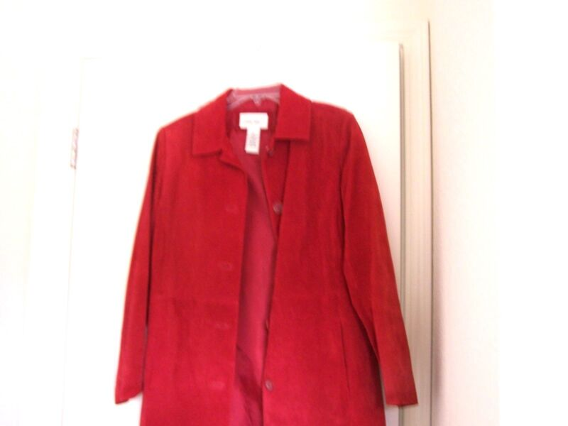 "Cherokee red leather jacket, 38"" chest"